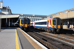 444025 - Eastleigh (danny444043) Tags: west south trains class waterloo 450 weymouth poole eastleigh 444 desiro 450001 444025