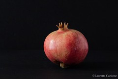 pomegranate on black background (lauretta cardone) Tags: life black still background pomegranate