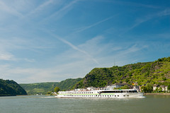 Romantic Rhine: River Cruise near Loreley (rheinland-pfalz) Tags: cruise vacation holiday castle river germany rhine loreley middlerhine goarshausen