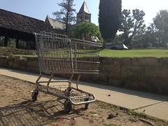 Shopping Cart at the Church of the Angels (fordsbasement) Tags: abandoned shoppingcart garvanza