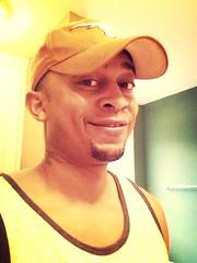 Me (orbidy2000) Tags: guy smile hat beard bathroom texas tanktop longhorn earrings longhornfan haironface mammothfilter