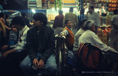 The Wait (SushantaBhattacharjee) Tags: portrait people india cold bus station night december delhi stop rishikesh isbt