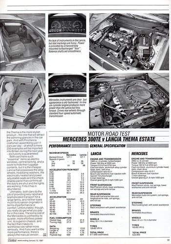 Mercedes Benz 300TE W124 & Lancia Thema ie Turbo Estate Twin Road