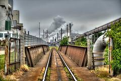 Welcome at Tata Steel - IJmuiden (PortSite) Tags: tata steel ijmuiden gerard krol spoorlijn spoor spoorbrug brug hdr schoorsteen rook