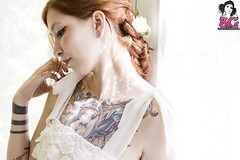 Persephone (Dwam) Tags: portrait tattoo mantis portland spring lace sg suicidegirls persephone braid dwam