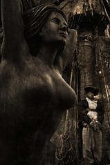 Black Sails (Seeing Visions) Tags: california ca woman man male monochrome television sepia us tv breasts ship unitedstates sandiego pirates rope deck crowsnest conventioncenter mast sailor tiedup comiccon rigging figurehead miniseries exhibithall femaile 2013 blacksails raymondfujioka prequeltotreasureisland