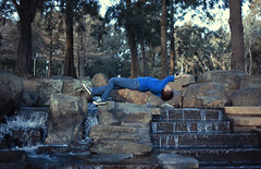 More expirements (Brad East) Tags: girl photography waterfall magic levitation creepy canberra ghostly