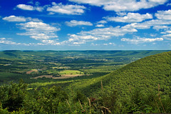 Ramm Road Vista (3) (Nicholas_T) Tags: summer sky mountains clouds rural landscape pennsylvania hills valley cumulus creativecommons appalachianmountains midstatetrail clintoncounty lycomingcounty tiadaghtonstateforest