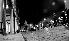 street art (Buskers FE) (Nico Govoni) Tags: life road street party people bw italy music art rock night song happiness note views soul ferrara songer