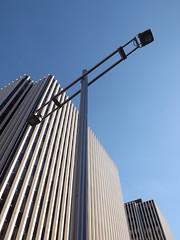 stainless lamppost (jasonwoodhead23) Tags: downtown edmonton steel pole lamppost alberta stainless