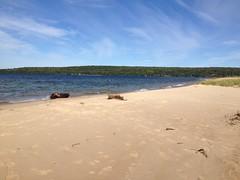 Blissful Blue Waters of Lake Superior (JKissnHug - Getting Back to Birding & Photography) Tags: blue lake beach water rocks michigan lexington shoreline rocky greatlakes rugged lakehuron winter2013