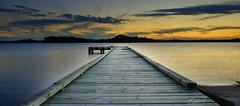 Sunset on the River || Tasmania (edwinemmerick) Tags: sunset cloud reflection water weather river nikon jetty australia tasmania edwin strahan d60 emmerick edwinemmerick