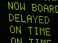 """DELAYED"" message at Boston North Station (SchuminWeb) Tags: road county railroad signs station sign boston train ma bay suffolk boards delay message time ben massachusetts web board authority north july rail trains amtrak transportation transit signage commuter mbta roads arrival now messages departure departures delayed delays signing boarding arrivals railroads stations status 2011 schumin schuminweb"