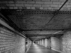 Underground London (GothPhil) Tags: england london station architecture underground october tunnel walkway kensington passage southkensington 2013