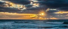 Rays and Stormy Seas (intrazome) Tags: ocean longexposure sunset sea england sun southwest water evening coast nikon cornwall waves ray nd coastline rays sigma1770 d5100