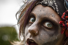ZombieFest! (G-2ME) Tags: woman girl eyes pittsburgh zombie zombies lawrenceville zombiefest
