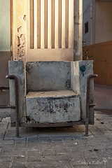 concrete airmchair (Tania's Tales) Tags: street city urban stilllife abandoned concrete outside chair furniture empty streetphotography armchair exploration        fotografiastradale taniastales