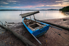 NOT TODAY (my effendi) Tags: ocean longexposure sunset sea cloud water river landscape dawn boat nikon cloudy wideangle tokina malaysia stump slowshutter kedah apen effendi d90 merbok singhray rgnd segantanggaram myeffendi effendimohdyusof