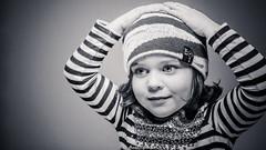 Pensive Redeye (Sir SR) Tags: portrait blackandwhite cute kid cool eyes nikon tamron coy strobe d800 nissin lastolite engaging 2875 beautydish strobist sb900 triflector