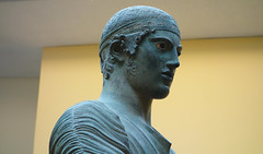 Charioteer of Delphi, head