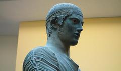Charioteer of Delphi, head