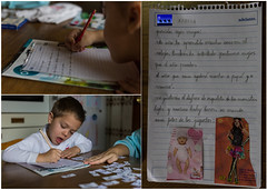 Learning to write - The best excuse (The eclectic Oneironaut) Tags: christmas family espaa men familia kids canon eos navidad three spain nios valladolid niece nephew presents wise letter write sobrinos 6d 2014 escribir tordesillas canonef50mmf18ii