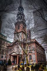 St. Paul's Chapel - HDR - Experiment (achinthaMB) Tags: nyc newyorkcity usa newyork church america chapel manhatten hdr romancatholic stpaulschapel unitedstateofamerica saintpaulschapel canoneos550d canonrebelt2i