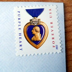 282/365:  Purple Heart (MountainEagleCrafter) Tags: stamp postage purpleheart day282 apicaday 10913 282365 shootfirstaskquestionslater day282365 09oct13 3652013 2013yip 365the2013edition pad2013365 2013internationalbeauty 10092013