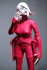 Red Devil Lady Sham (luciferbeck) Tags: red lady toy action 3a figure devil sham popbot threea