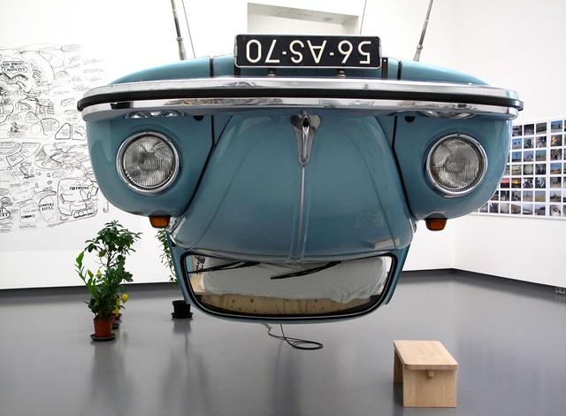 car volkswagen beetle vanabbemuseum eindhoven exhibition surasikusolwong nakedmachine