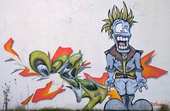 Crazy UFO (Alb'Images ) Tags: street urban streetart colour art wall painting graffiti crazy stencil mural tag graph ufo dessin spray urbanart artists draw graff aerosol tagging murales fresque streeart urbex graffart grapheur albimage albimages