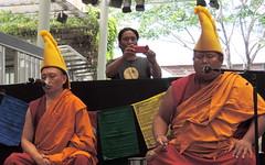 Snapped! (Grenzeloos1 -) Tags: city summer photographer buddhist brisbane queensland iphone chanting 2014 tashilhunpomonks festivaloftibet