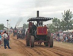 Steam Tractor Parade. (dccradio) Tags: road old trees sky tractor tree classic hat wisconsin vintage cloudy antique farm farming overcast parade dirt edgar ag greenery antiquetractor agriculture suspenders wi steamengine gravel agricultural oldtractor steamtractor classictractor vintagetractor marathoncounty centralwisconsin edgarsteamshow northcentralwisconsinantiquesteamgasengineclub antiquesteamgasshow