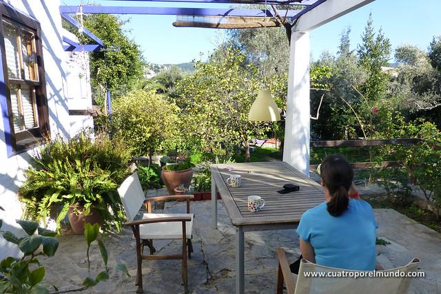 Cafecito en la terraza de Berta