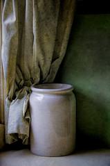 The Pot In The Corner (Sh4un65_Artistry) Tags: painterly texture curtain cardiff pot digitalpainting stfagans topaz museumofwelshlife paintedphoto texturedbackground texturedphoto