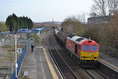 DB 60059 @ Patchway (AJHigham) Tags: station db class tug 60 tanks dbs schenker murco patchway swinden 60059 dalesmen 6b33