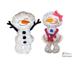 snowman sewing pattern (Dolls And Daydreams) Tags: christmas winter toy snowman pattern sewing plush softie tutorial sewingpattern childfriendly