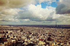 (ria) Tags: city sky cloud paris france colors clouds landscape nuvole nuvola cielo toureiffel aeria colori francia paesaggio citt parigi basiliquedusacrcur ria domedusacrcur