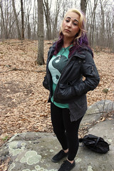 IMG_9680 (kelsble) Tags: cute nature beautiful leaves rock hair outside woods rocks pretty purple lia portait adorable rhodeisland seniorproject bodymods