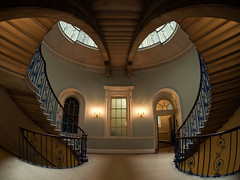The Nelson Stair (martinturner) Tags: uk windows light house london beautiful architecture strand stairs floors eyes warm stair gallery doors looking five central navy steps victorian arches nelson somerset palace tudor stamp fisheye staircase rails rotunda arcs formerly martinturner nelsonstair
