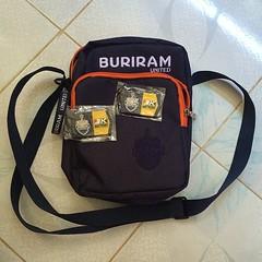 กระเป๋า240฿ ไว้ใส่หม้อแบตไปกรีดยาง ^__^ #buriramunited #collection