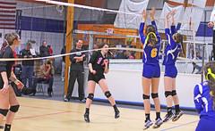 IMG_8672 (SJH Foto) Tags: school girls net club high team jump shot action battle teen teenager spike midair volleyball block delaware tween