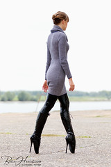 1935428191 (zo12kmeister) Tags: sexy sweater boots turtleneck balletboots cowlneck cowl sweaterdress