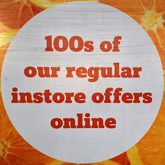 100s of our regular instore offers online (Leo Reynolds) Tags: poster squaredcircle 4s iphone iphoneography iphone4s xleol30x sqset111 groupiphone xxgeotaggedxx xxx2015xxx
