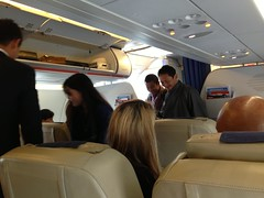 Flying first class, suddenly a parlament member from Bhutan entered The flight!