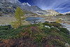 paesaggio, landscape (paolo.gislimberti) Tags: piemonte piedmont cloudysky stillwaters mountainlandscape autumnalcolors cielonuvoloso coloriautunnali paesaggiodimontagna alpinegrassland lagodres acqueferme prateriaalpina dreslake