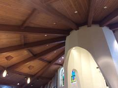 Radiating Ceiling above the Altar (alykat) Tags: wedding church architecture catholic altar catholicchurch arlingtonva iphone stagnes stagnescatholicchurch iphone5s dariandnancy