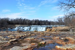 Grand Falls (Adventurer Dustin Holmes) Tags: water creek waterfall missouri ozarks shoalcreek grandfalls 2015 joplinmissouri joplinmo