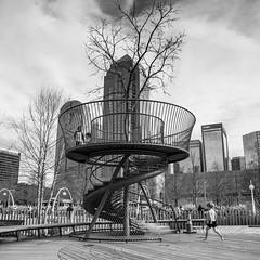 Treefort in the City (www.higbyphotography.com) Tags: park boys playground kids children dallas cityscape treefort klydewarrenpark