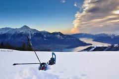 Ciaspolata panoramica (Milena Digonzelli) Tags: winter panorama mountain lake snow landscape lago tramonto neve inverno montagna paesaggio comolake lario legnone ciaspole ciaspolata altolario